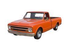 Klassischer orange LKW stockfotos