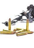 Klassischer Revolver und Gewehrkugeln Lizenzfreie Stockfotografie