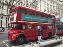 Klassischer roter Bus Stockfoto