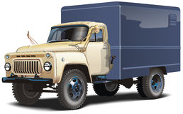Klassischer russischer Lastwagen lizenzfreie abbildung