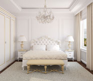 Klassischer Schlafzimmerinnenraum. Lizenzfreies Stockfoto