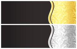 Klassischer schwarzer Gutschein mit Victoriande Stockbilder
