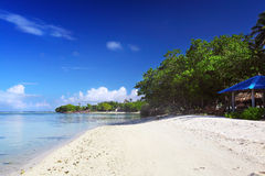 Klassischer Strand in Malediven Lizenzfreie Stockfotos