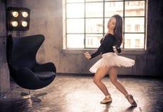 Klassischer Tänzer in der Aktion lizenzfreies stockfoto
