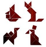 Klassischer Tangram - verschiedener Baut. Stockbild