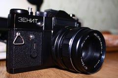Klassischer und alter Zenit und Kamera stockfotos