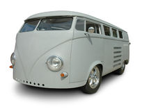 Klassischer VW Van im Primer lizenzfreies stockbild