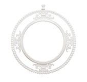 Klassischer weißer Kreisrahmen der Weinlese Lizenzfreie Stockfotografie