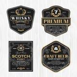 Klassischer Weinleserahmen für Whiskyaufkleber und antikes Produkt lizenzfreie abbildung