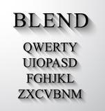 Klassisches Alphabet mit modernem langem Schatteneffekt Lizenzfreies Stockbild