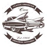 Klassisches amerikanisches Auto lizenzfreie abbildung
