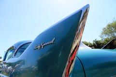 Klassisches amerikanisches Autodetail stockbild