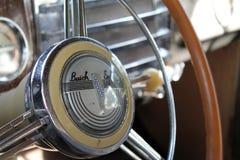 Klassisches amerikanisches Autoinnenraumdetail Lizenzfreie Stockfotografie