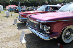 Klassisches amerikanisches Autoluxusdetail Stockfotos