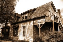 Klassisches amerikanisches Haus Stockbild