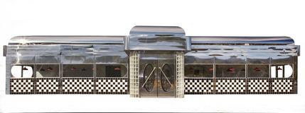Klassisches amerikanisches Restaurant auf Weiß Stockbild