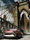 Klassisches Auto in der alten Stadt