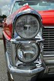 Klassisches Auto-Scheinwerfer-Detail Stockfoto