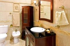 Klassisches Badezimmer Stockfoto