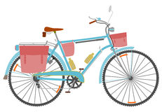 Reisen des Fahrrades. vektor abbildung