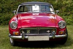 Klassisches britisches Auto auf dem britischen Motor traf sich in Karlsborg-Festung Stockbilder