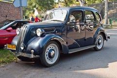Klassisches britisches Auto an einer Autoshow Lizenzfreies Stockfoto