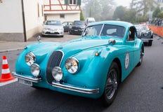 Klassisches britisches Auto Jaguar XK Stockfoto