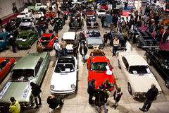 Klassisches Car Show, panoramische Ansicht Lizenzfreies Stockbild