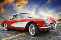 Klassisches Chevrolet Corvette stockfotos