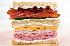 Klassisches Club Sandwich stockfotos