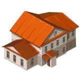 Klassisches Gebäude der städtischen Institution Vektor lizenzfreie abbildung