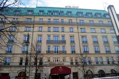 Klassisches Gebäudehotel ADLON in Berlin, Deutschland Lizenzfreie Stockfotos