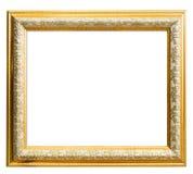 Klassisches goldenes Feld getrennt auf Weiß Stockfoto