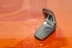 Klassisches Handtelefon Stockfoto