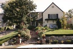 Klassisches Haus auf der Halbinsel des Kalifornien-Südens von San Francisco. Lizenzfreies Stockfoto