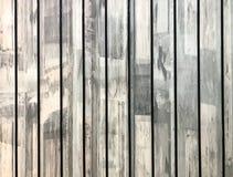 Klassisches helles Weiß benutzte Platten-den hölzernen Planken-Beschaffenheits-Hintergrund, der von aufbereiteter Täfelung für Mö Stockbild