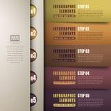 Klassisches infographics Papier der Zusammenfassung 3d Lizenzfreie Stockfotografie
