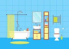 möbel im klassischen blauen badezimmer stockfoto - bild: 59223101, Hause ideen