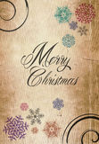 Klassisches Kartenpapier des neuen Jahres der frohen Weihnachten Lizenzfreies Stockfoto