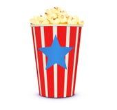 Klassisches Kinoart Popcorn Lizenzfreies Stockfoto