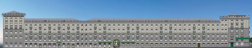 Klassisches langes Haus im Vektor Lizenzfreie Stockfotos