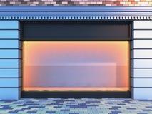 Klassisches leeres Schaufenster. Lizenzfreie Stockfotografie