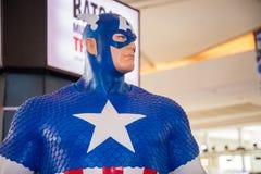 Klassisches Modell Kapitäns Amerika auf Anzeige Lizenzfreie Stockfotos