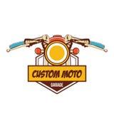Klassisches Motorradlogo Lizenzfreie Stockfotos