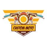 Klassisches Motorradlogo Stockfoto