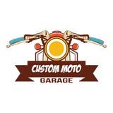 Klassisches Motorradlogo Stockfotos