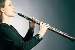 Klassisches Musiker oboe Spielen Lizenzfreies Stockfoto