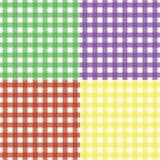 Klassisches nahtloses Gingham-Muster-Set Lizenzfreie Stockbilder