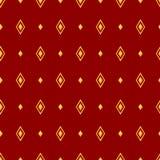 Klassisches nahtloses Muster mit Raute Auch im corel abgehobenen Betrag Stockbild