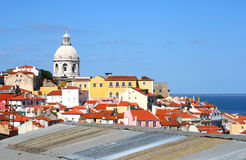 Klassisches Panorama von Lissabon Stockfotos
